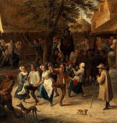 """David TENIERS le jeune, """"La fête de village"""", 1646, (détail), Musée de l'Ermitage, Saint-Petersbourg (source : WGA)"""