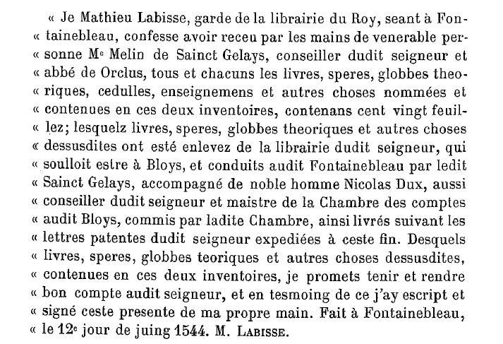 Acte du 12 juin 1544. SOurce : Gallica.