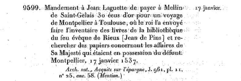 Acte du 17 janvier 1537. Source : Gallica.